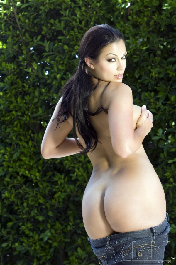 Aria Giovanni in Pigtails and Denim